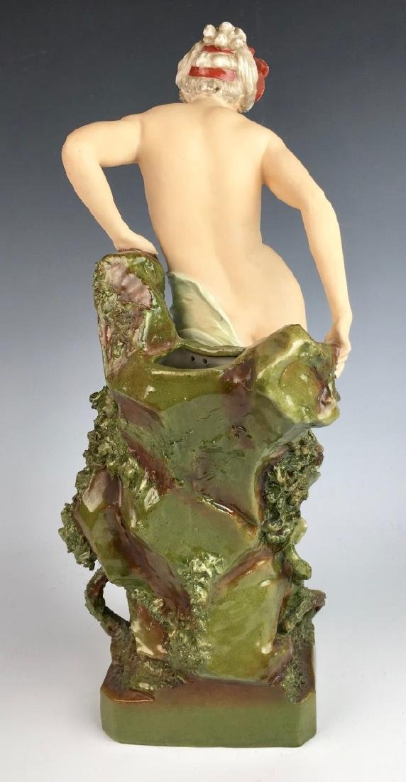 "Royal Dux ""Nude Descending Rocks"" Vase - 3"