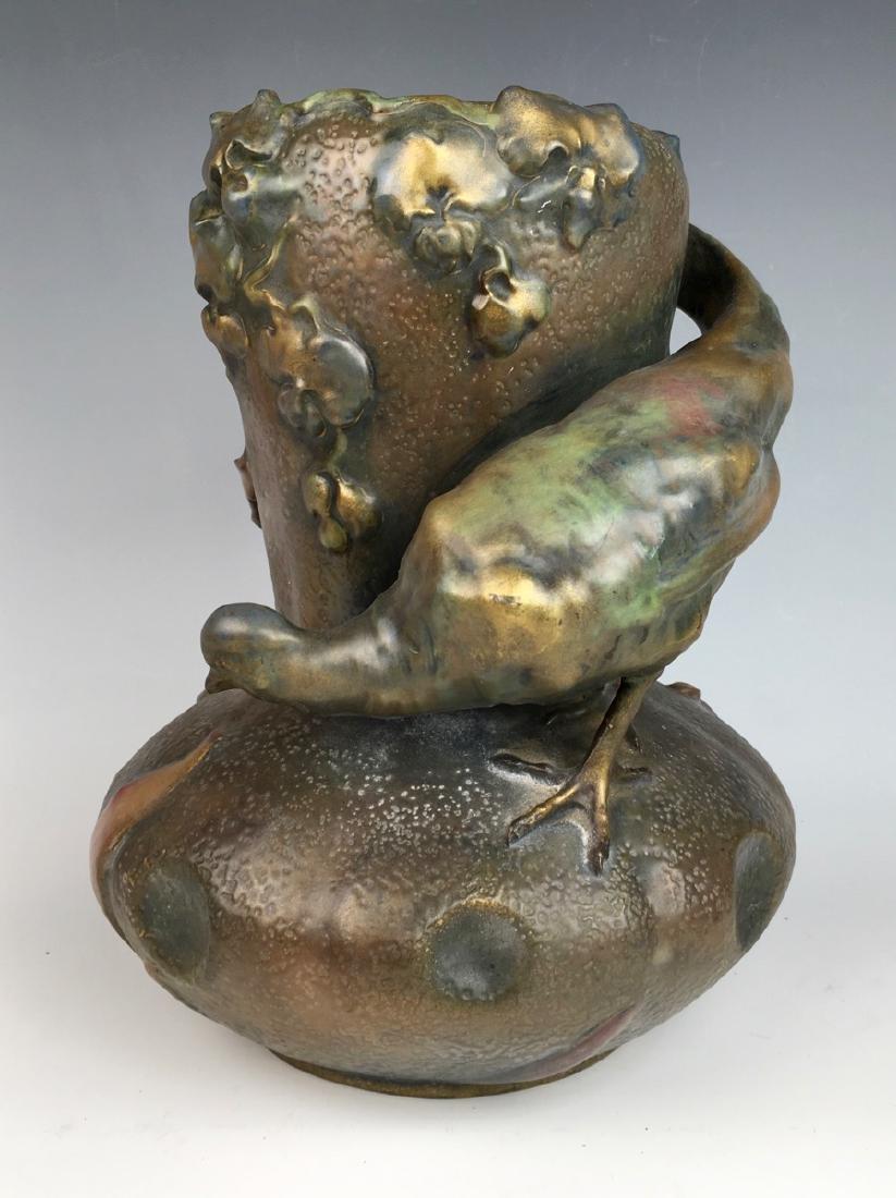 Amphora Art Nouveau Quail Vase
