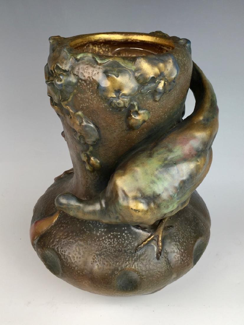 Amphora Art Nouveau Quail Vase - 2