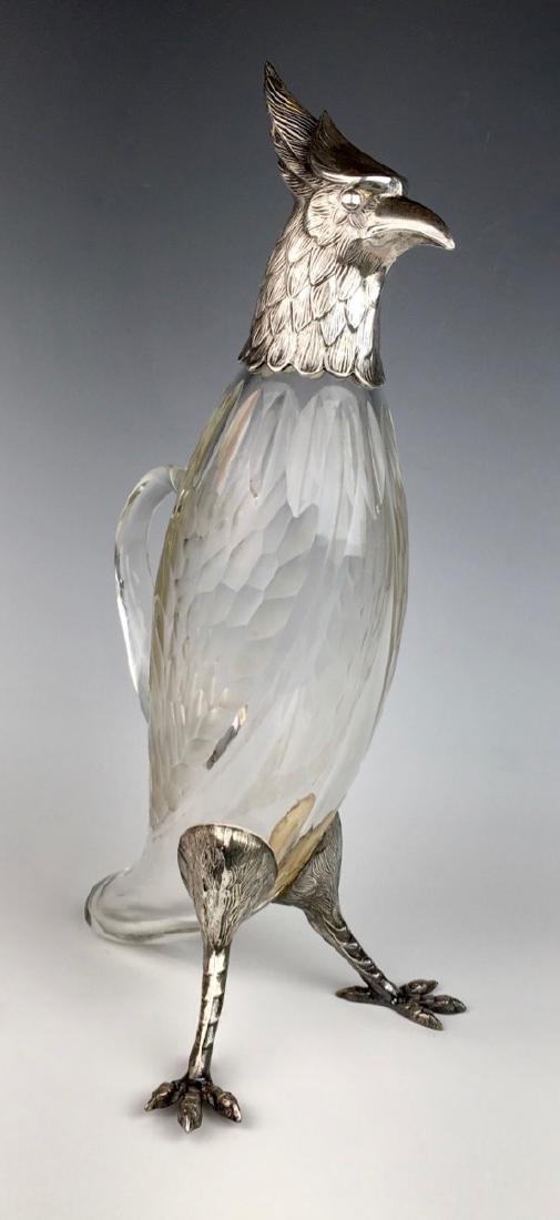 Silverplated Bird Decanter C. 1920 - 2