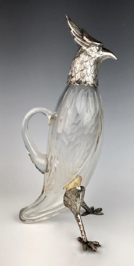 Silverplated Bird Decanter C. 1920 - 3