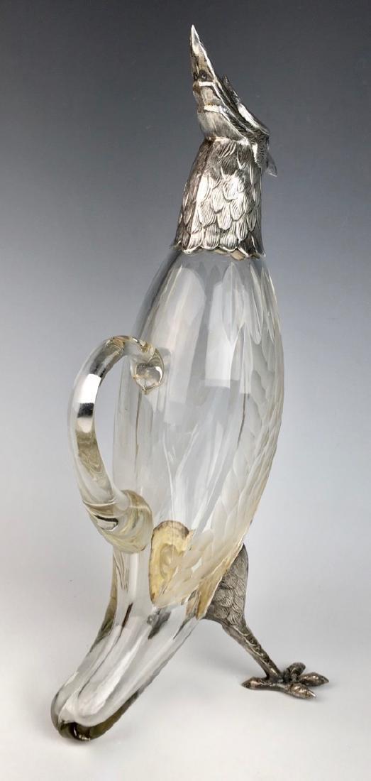 Silverplated Bird Decanter C. 1920 - 4