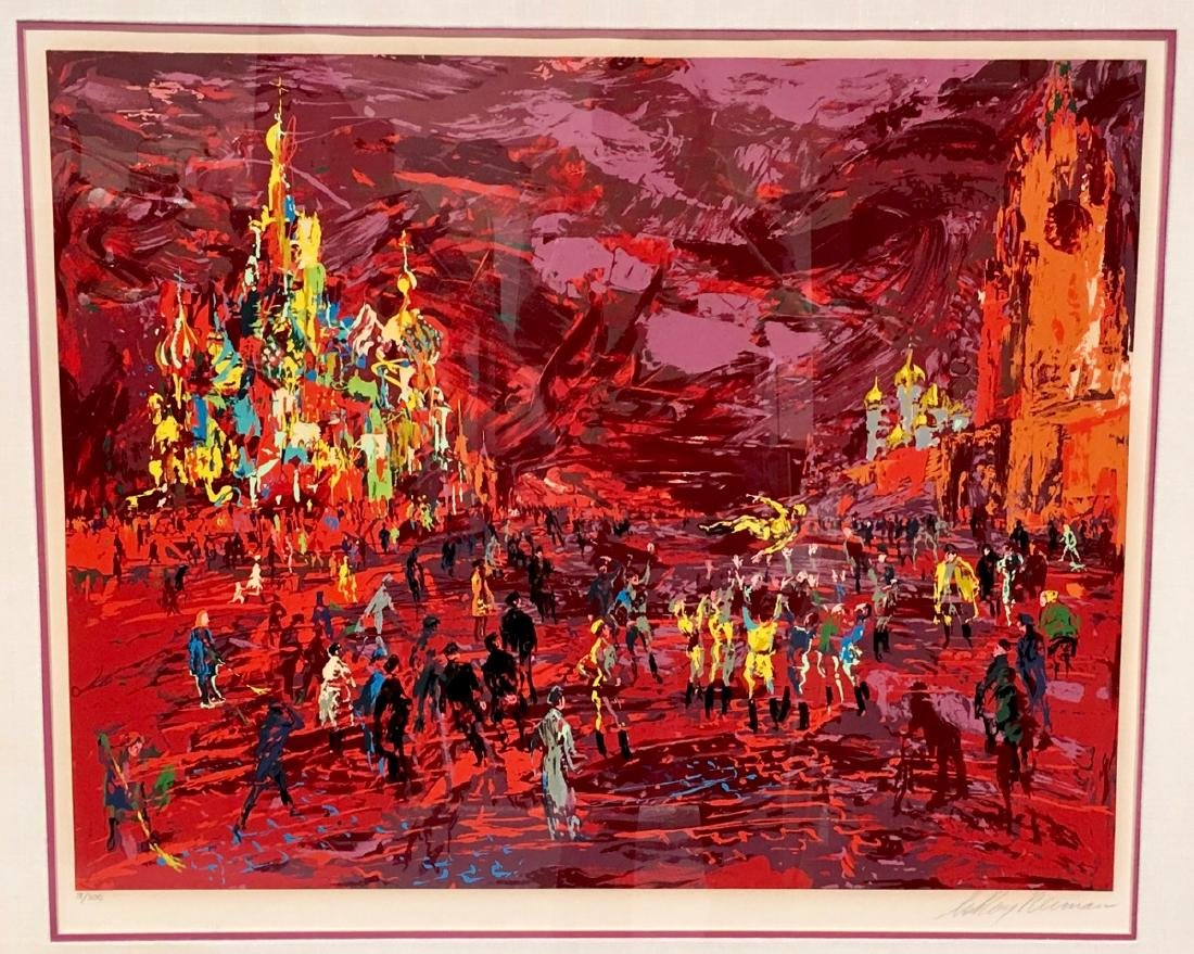 "Leroy Neiman ""Red Square Panorama"" Serigraph 1987 - 2"