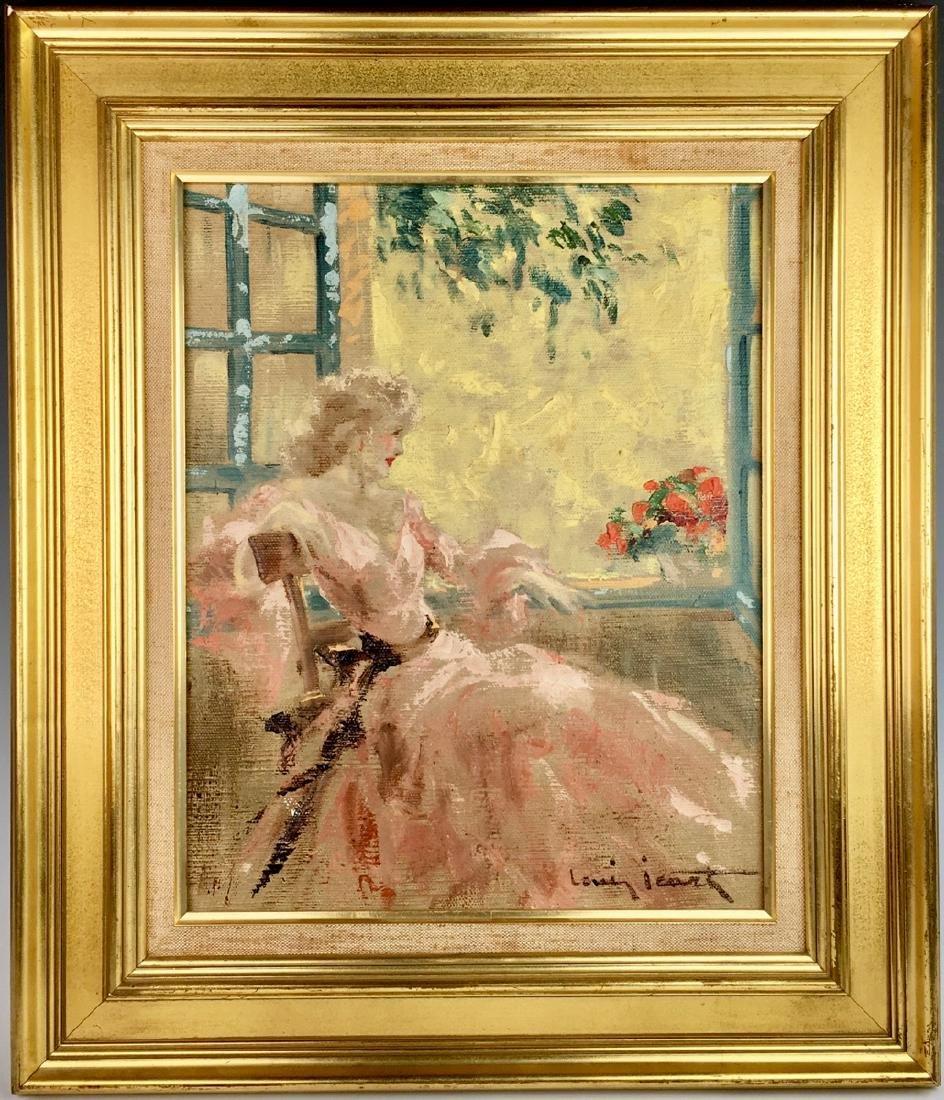 """Louis Icart (1888-1950) """"In the Window"""" Original"""