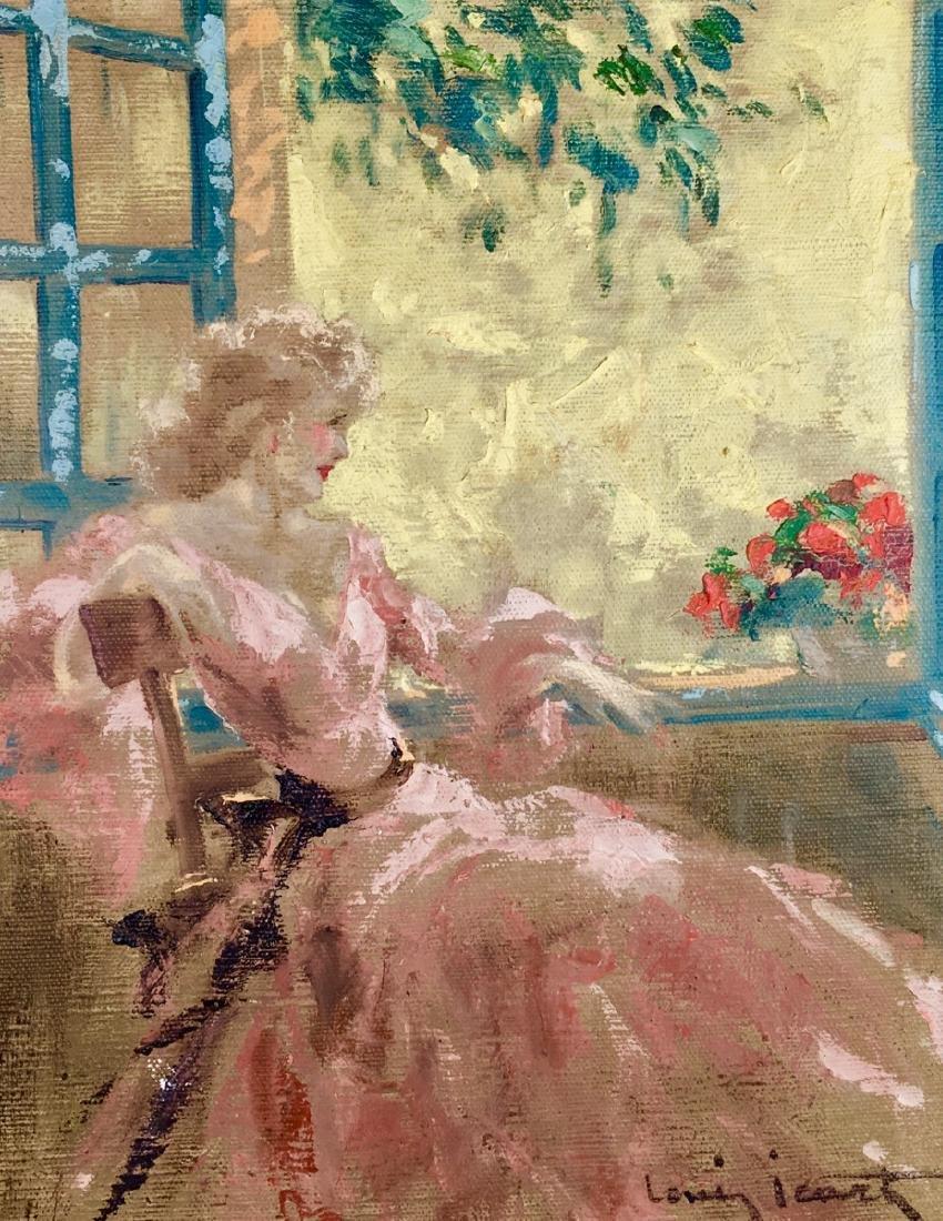 """Louis Icart (1888-1950) """"In the Window"""" Original - 2"""