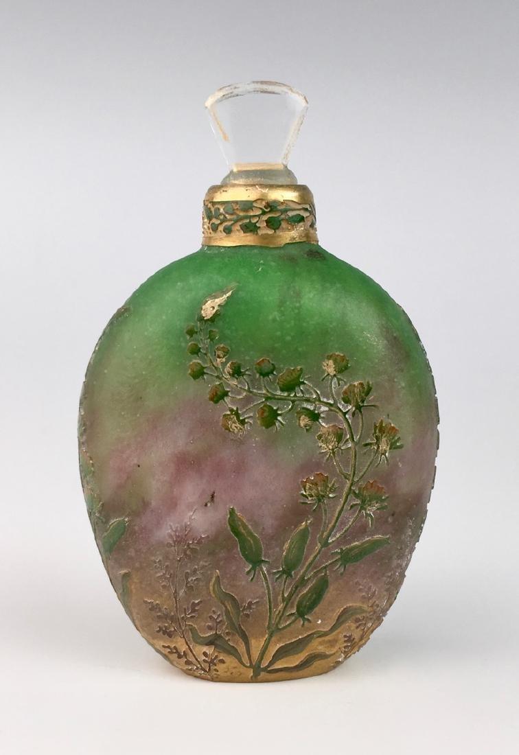 Rare Daum Nancy Cameo Perfume Flask