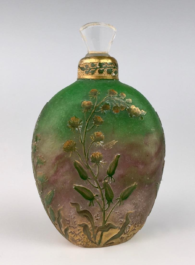Rare Daum Nancy Cameo Perfume Flask - 2