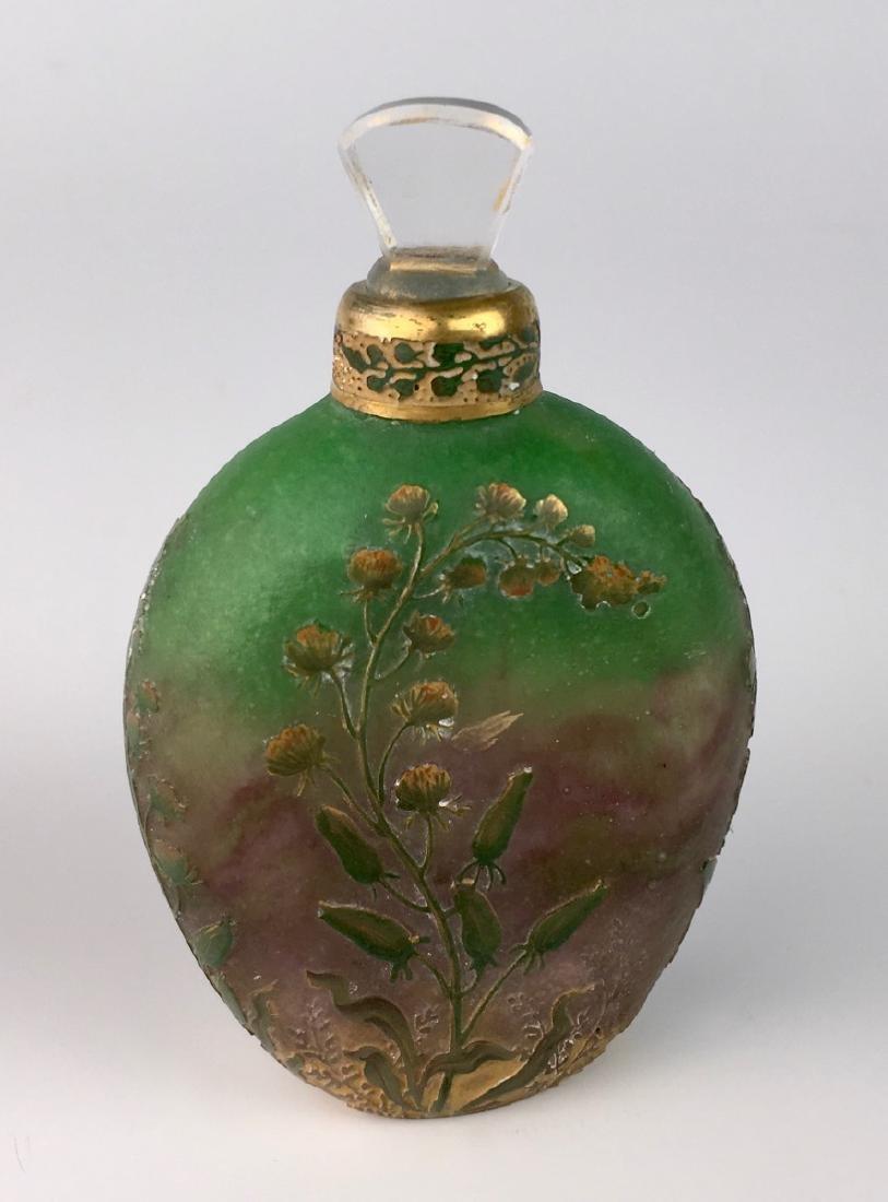 Rare Daum Nancy Cameo Perfume Flask - 3