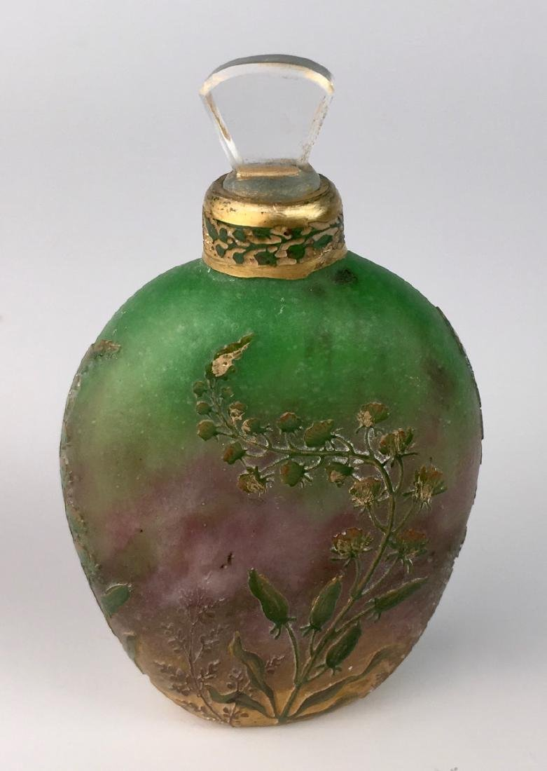 Rare Daum Nancy Cameo Perfume Flask - 4