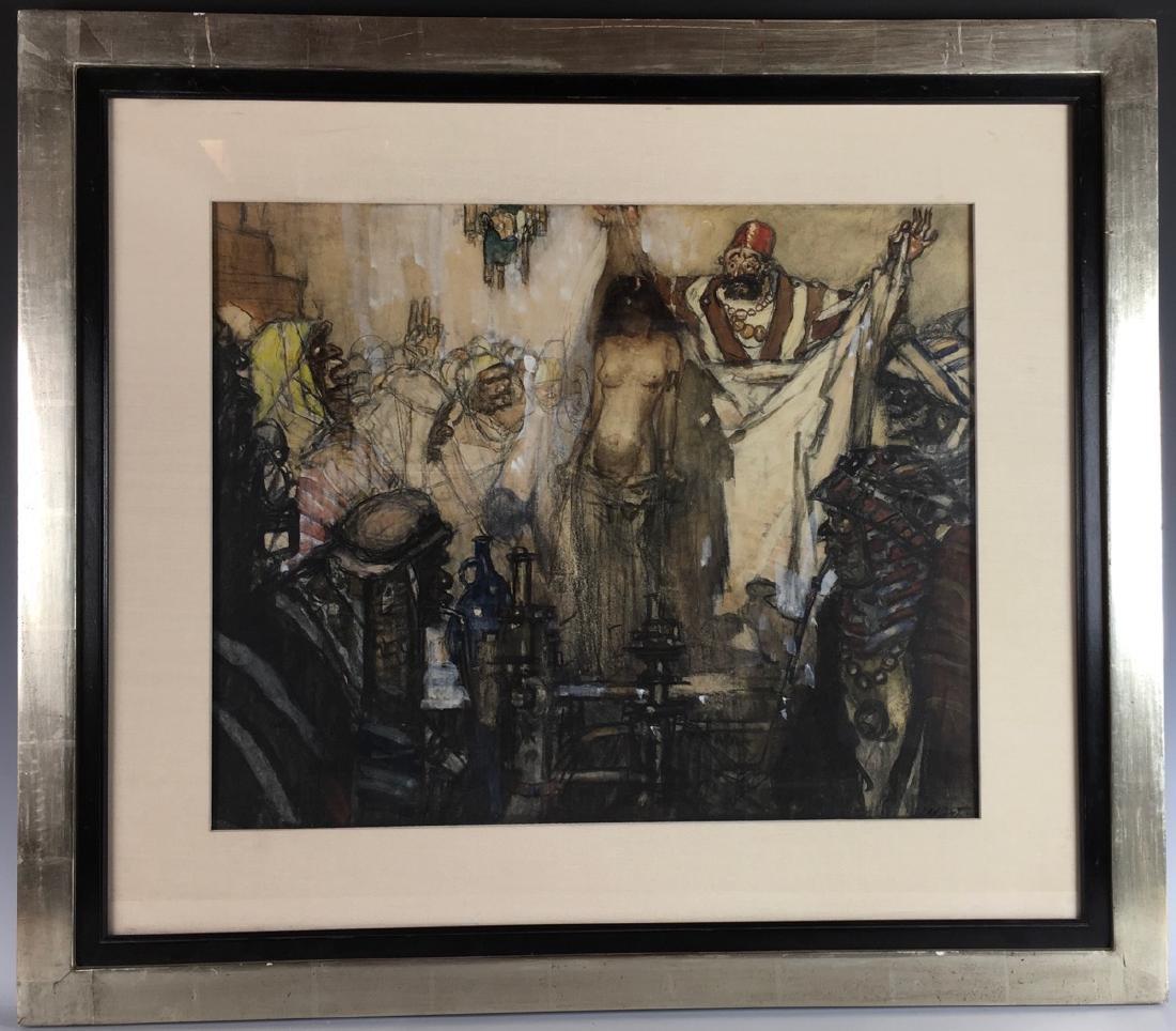"Daniel Sayre Groesbeck ""Slave Auction"""