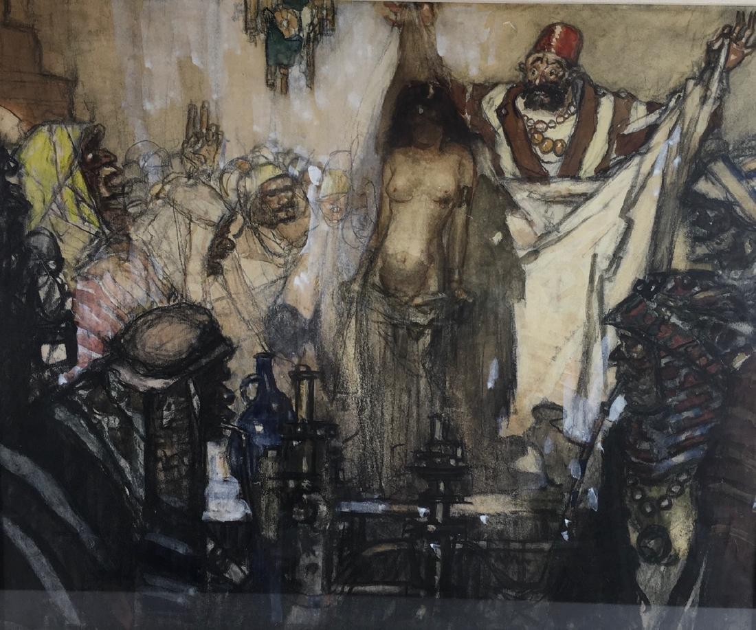 "Daniel Sayre Groesbeck ""Slave Auction"" - 2"