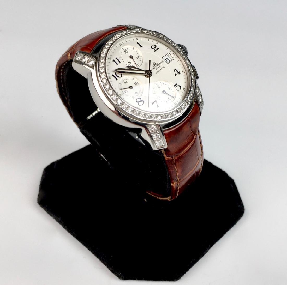 Baume & Mercierss Automatic Stainless & Diamonds