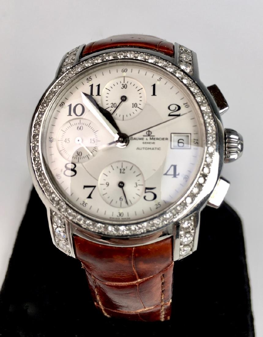 Baume & Mercierss Automatic Stainless & Diamonds - 4