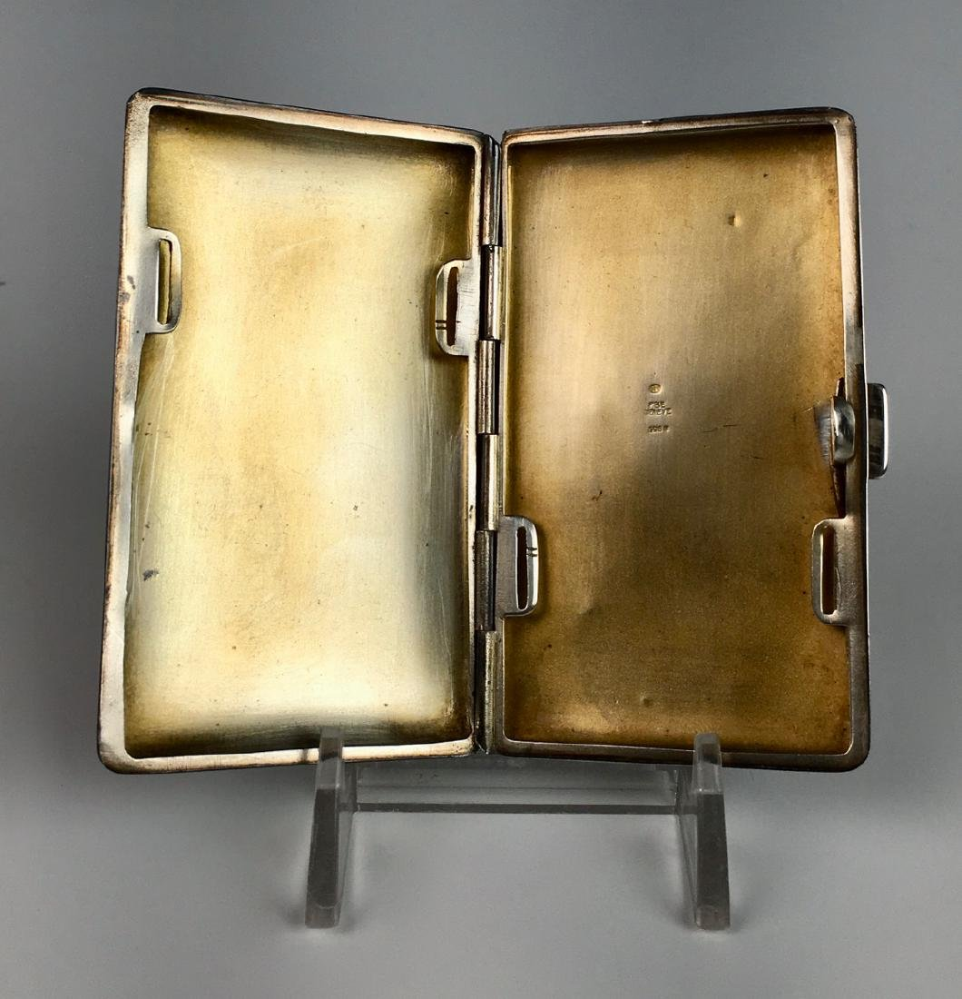 Erotic Sterling and Enamel Nude Cigarette Case - 4