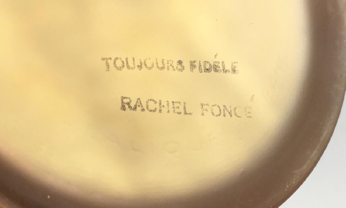 "R. Lalique ""Trois Figurines"" Glass Powder Box - 4"