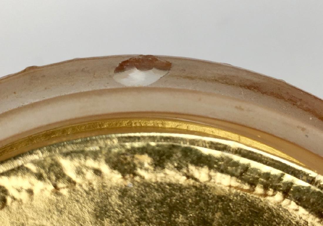 "R. Lalique ""Trois Figurines"" Glass Powder Box - 6"