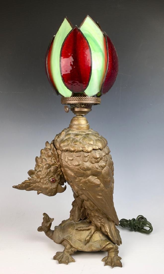 Cockatoo and Turtle Lamp by Craighead & Kintz