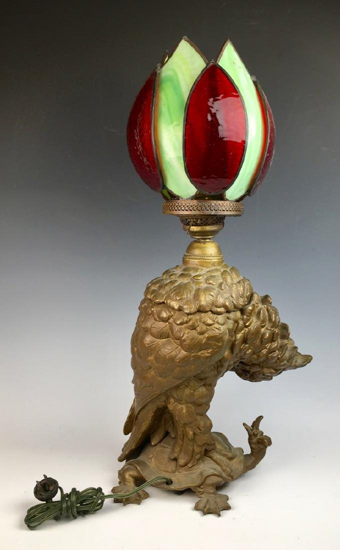 Cockatoo and Turtle Lamp by Craighead & Kintz - 3