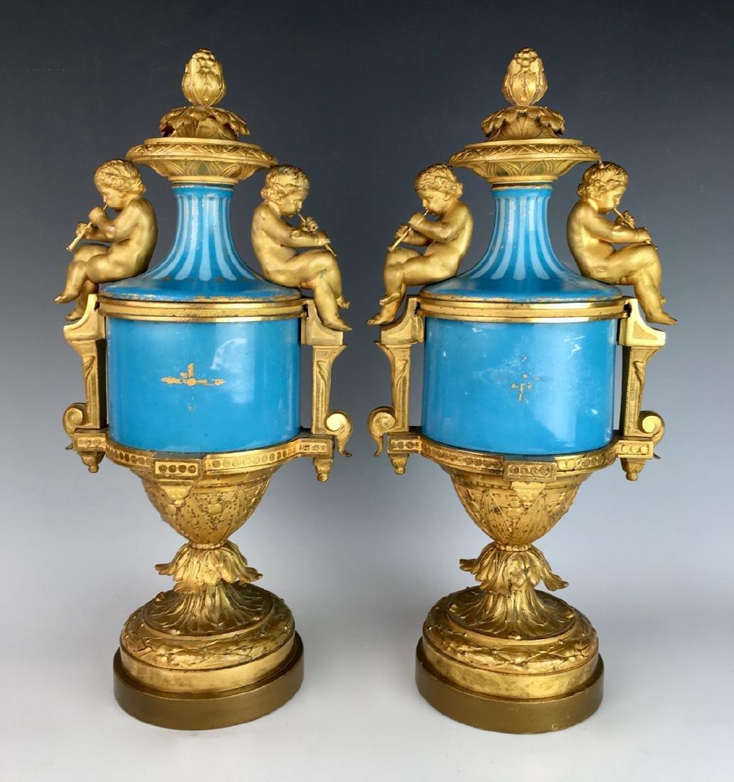 Pair Sevres Louis XV Urns - 2