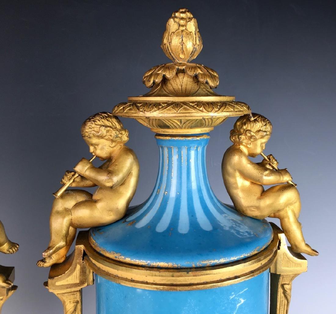 Pair Sevres Louis XV Urns - 3