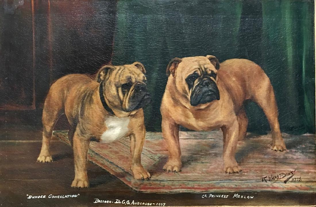 "Reuben Ward Binks (Br 1880-1950) ""Two Bulldogs"""