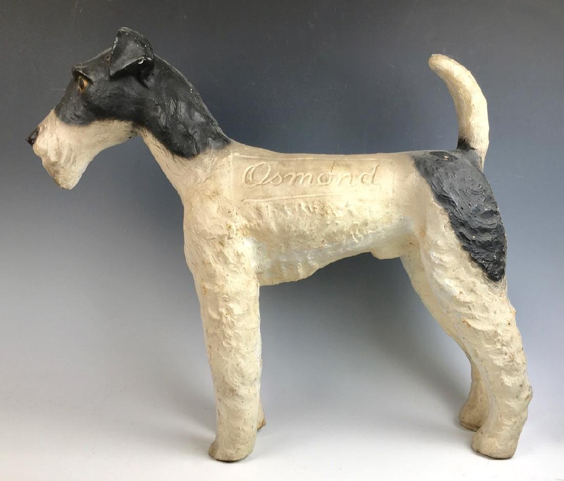 """Osmond"" Fox Terrier Advertising Figure"