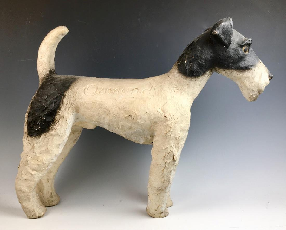 """Osmond"" Fox Terrier Advertising Figure - 2"