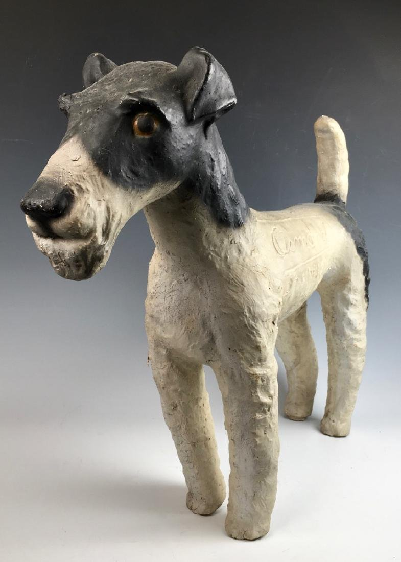"""Osmond"" Fox Terrier Advertising Figure - 6"