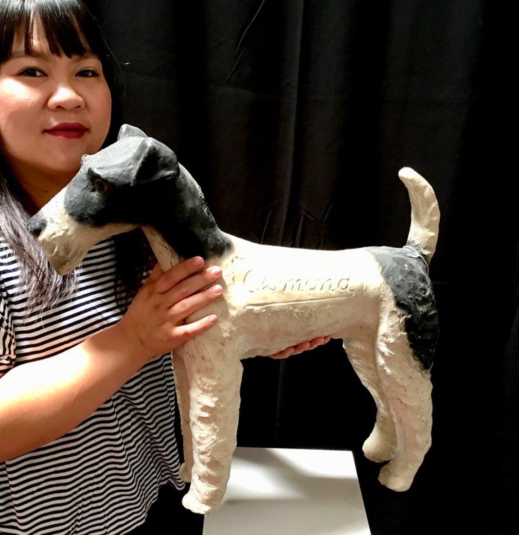 """Osmond"" Fox Terrier Advertising Figure - 7"