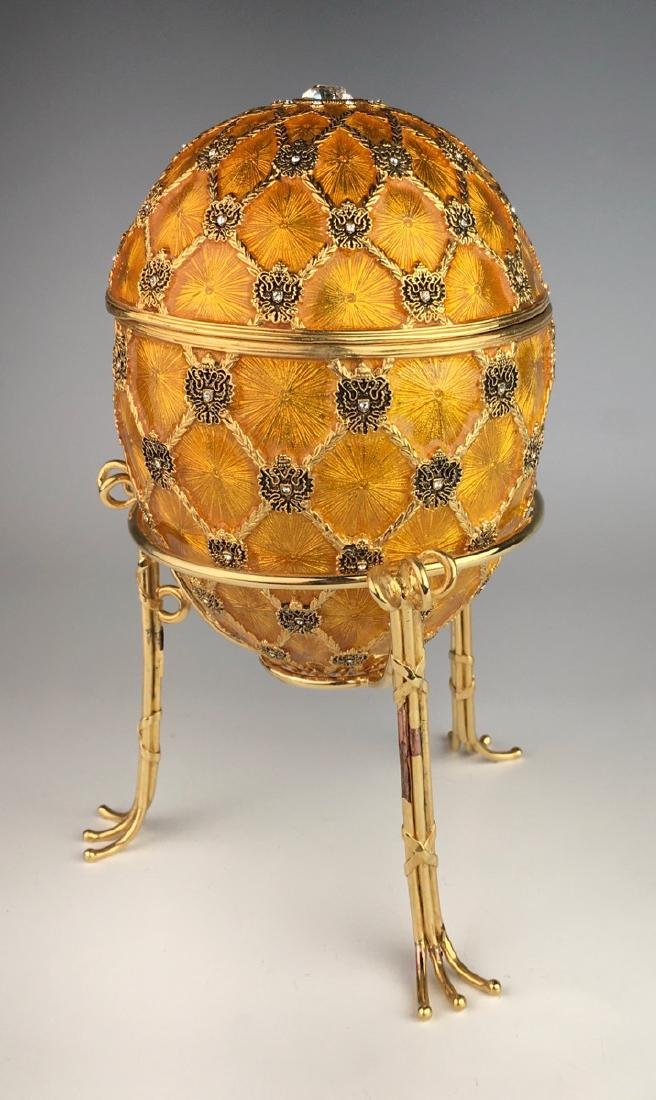 Large Russian Faberge Style Coronation Egg