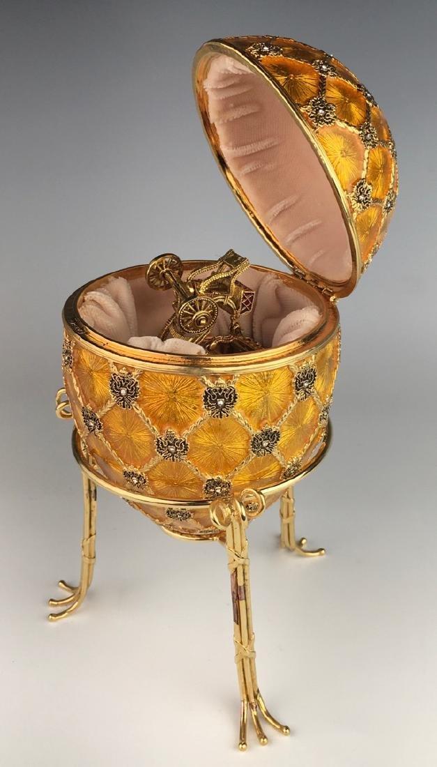 Large Russian Faberge Style Coronation Egg - 3