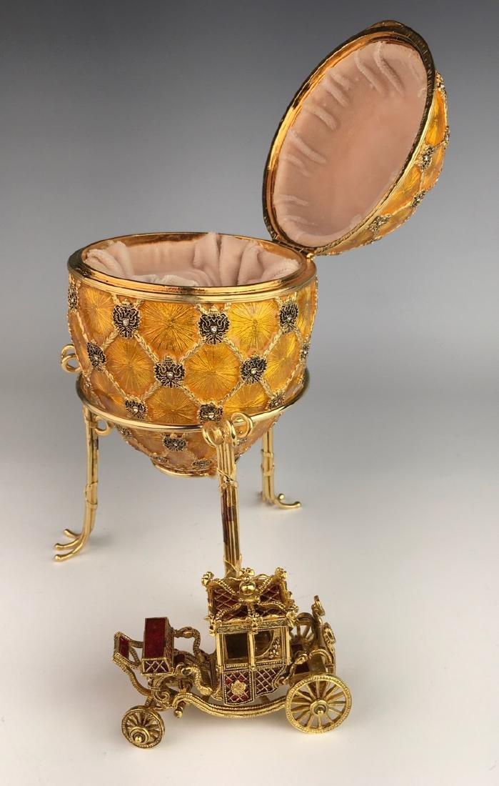 Large Russian Faberge Style Coronation Egg - 4