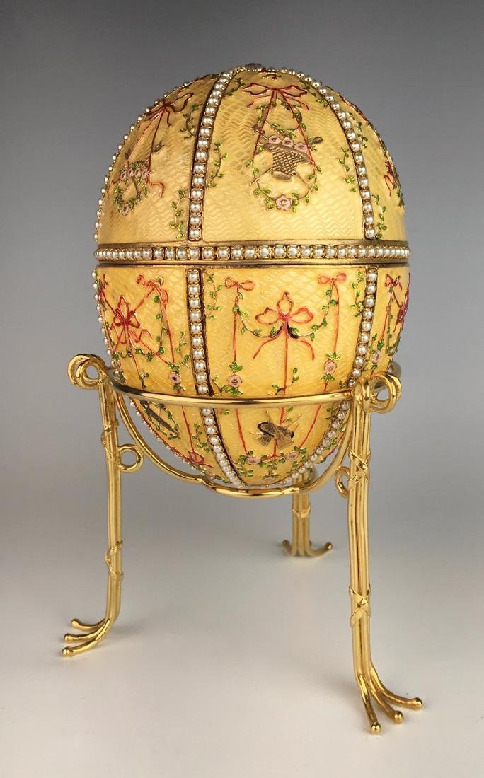 Large Russian Faberge Style Egg