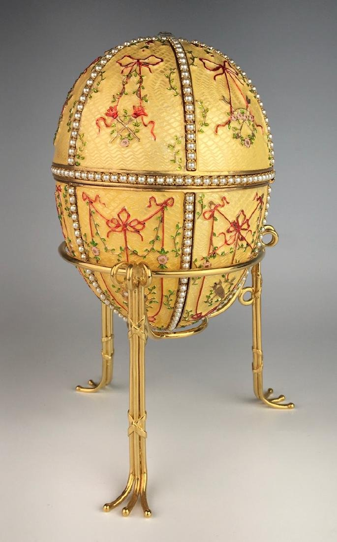 Large Russian Faberge Style Egg - 2