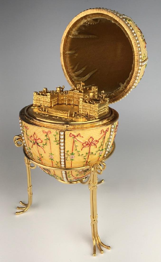 Large Russian Faberge Style Egg - 3