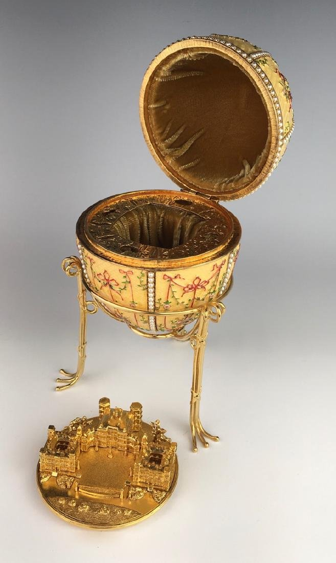 Large Russian Faberge Style Egg - 5