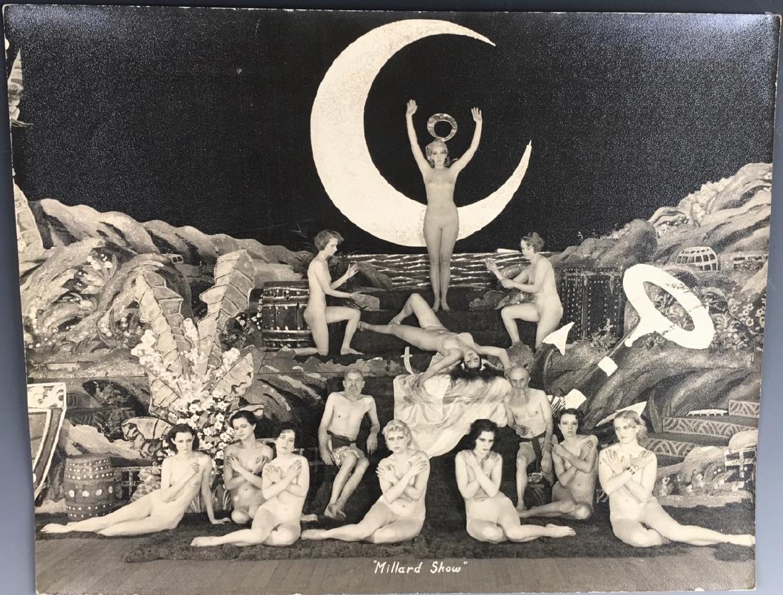 2 Large Piggott Studios Burlesque Photos D. 1935 - 2