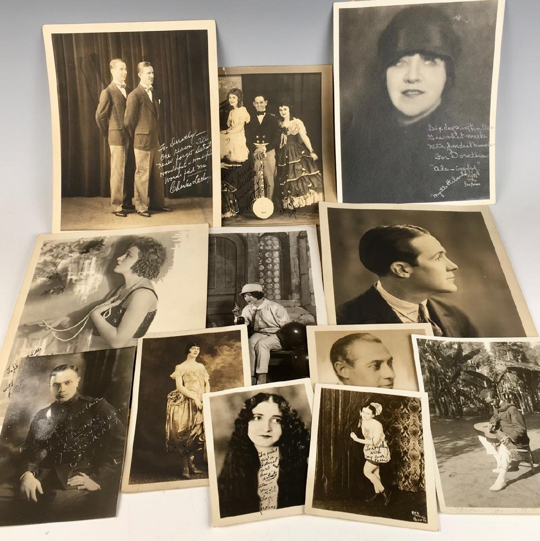 12 Silent Movie Actor & Actress Photographs