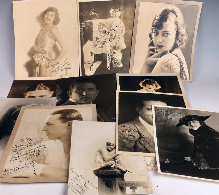 14 Autographed Silent Screen Actors