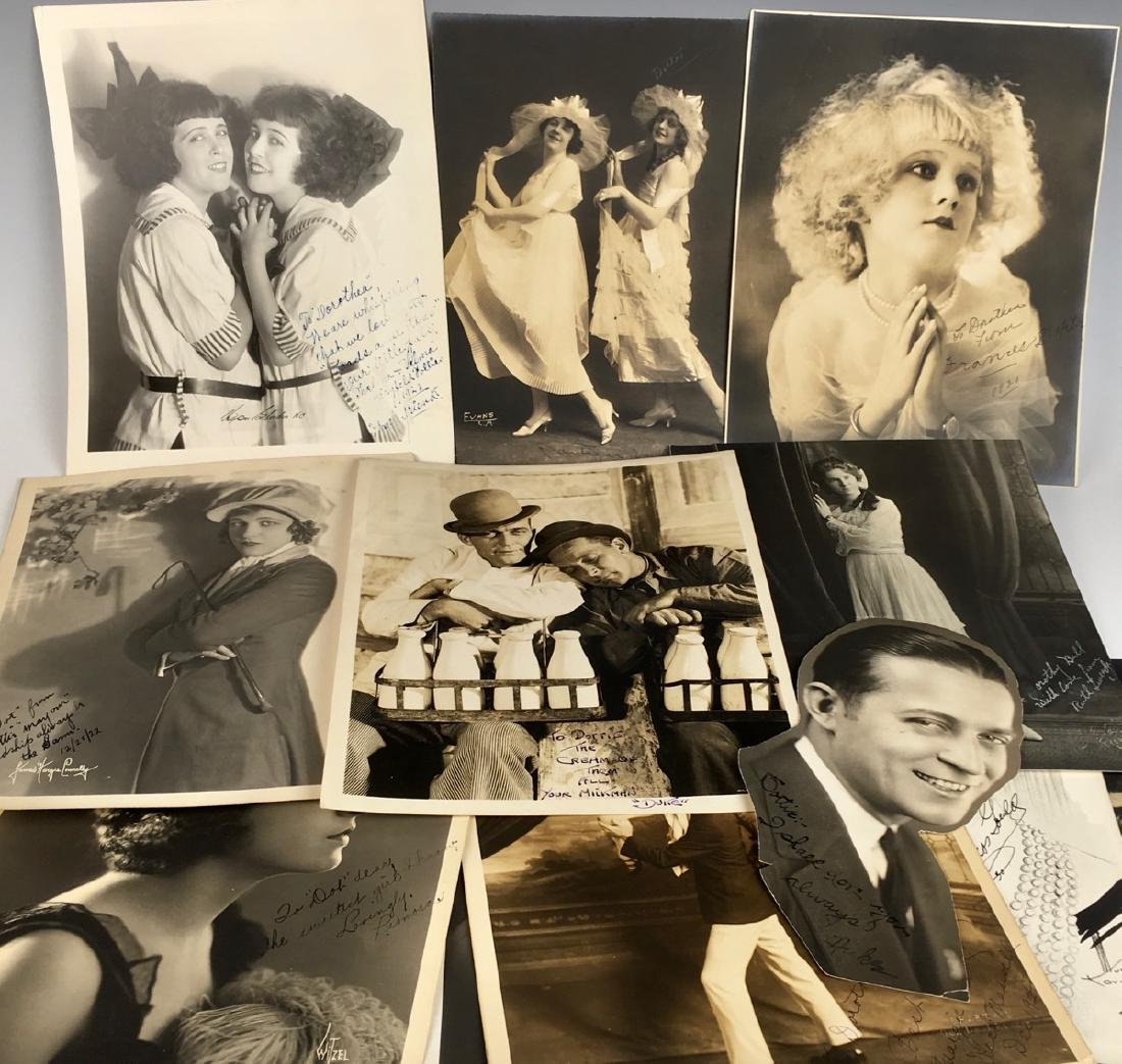 15 Autographed Silent Screen Actor Photos