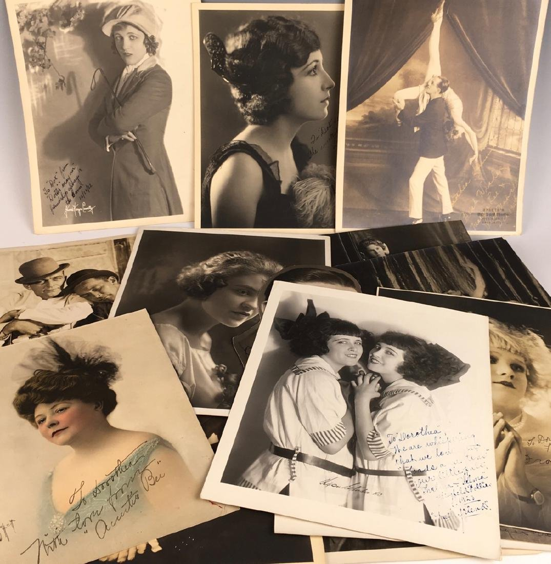 15 Autographed Silent Screen Actor Photos - 2