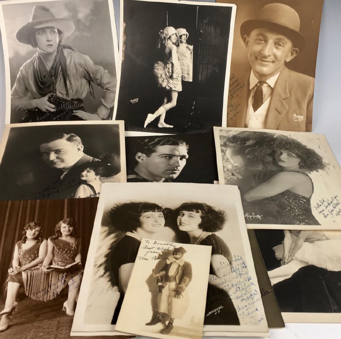 12 Silent Screen Actors Autographed Photos
