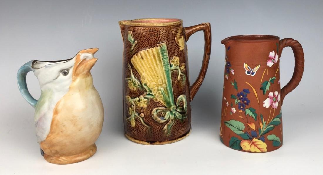 Group of 3 Antique Pitchers C. 1900