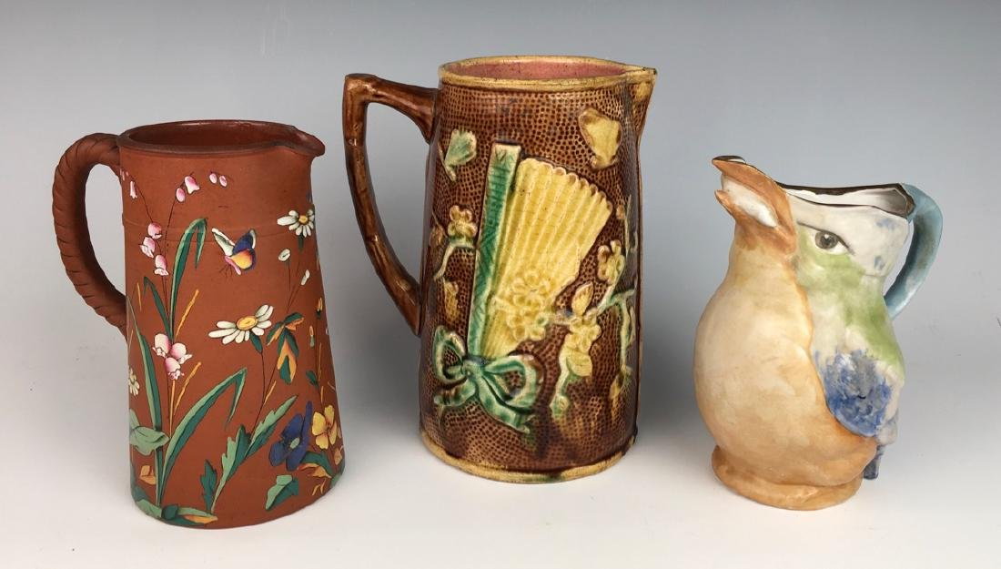 Group of 3 Antique Pitchers C. 1900 - 2