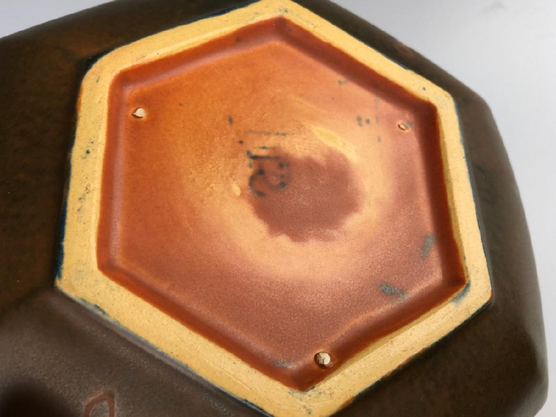 Roseville Hexagon Bowl with Flower Frog - 5