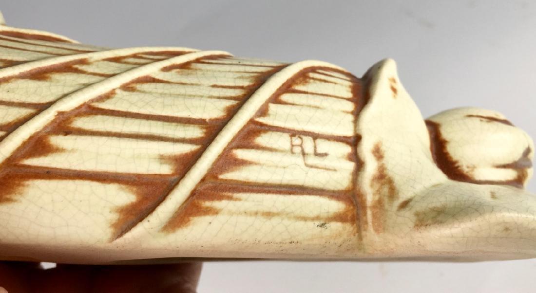 Weller Pottery Clinton Ivory Wall Shelf C. 1910 - 5