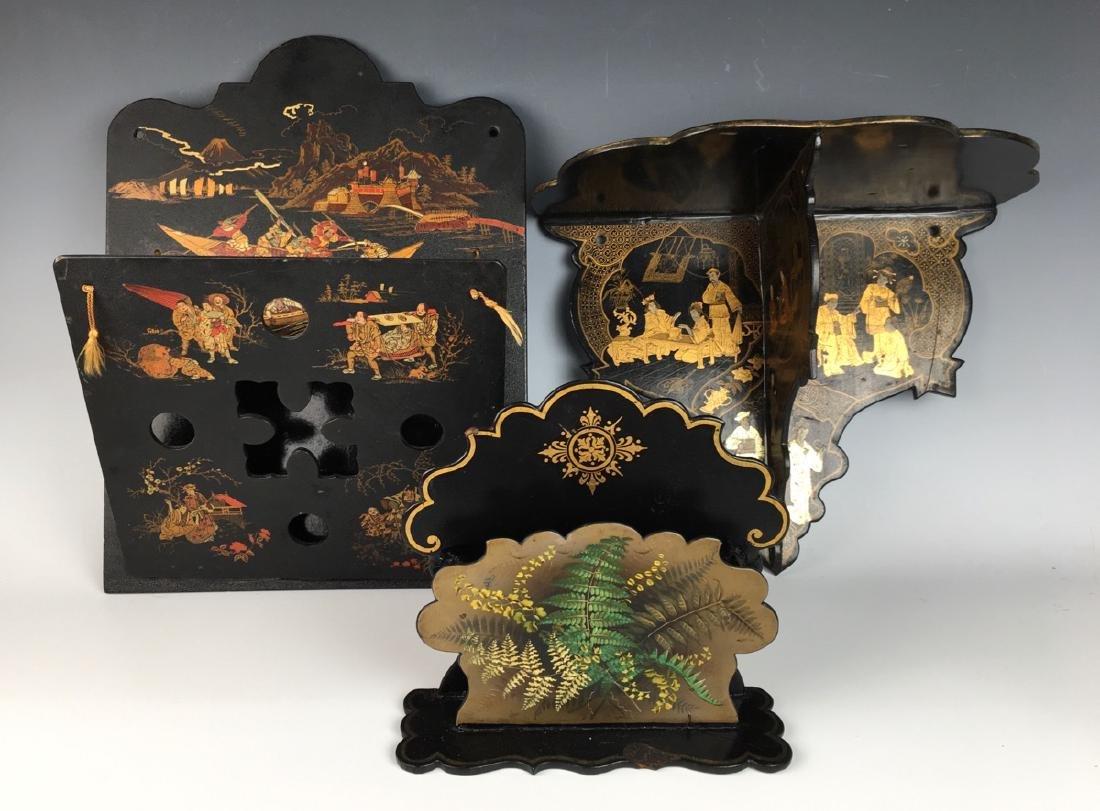 3 Japanese Lacquerware Items C. 1900