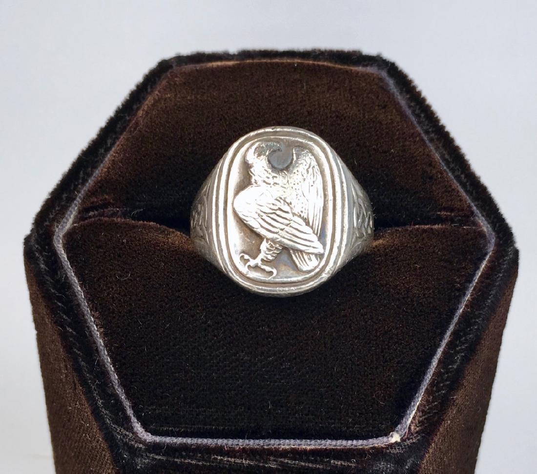 Georg Jensen Sterling Silver Eagle Signet Ring