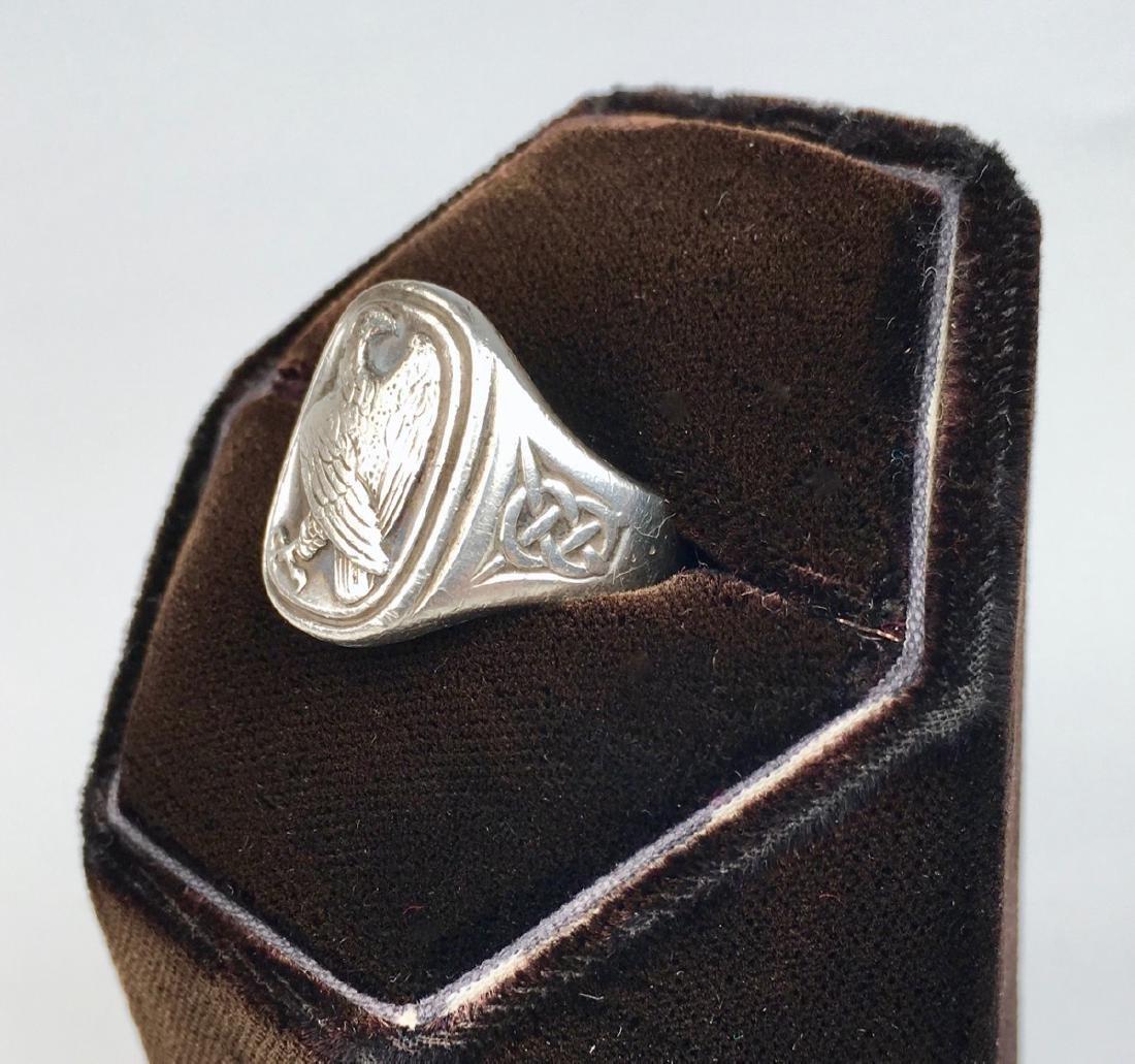 Georg Jensen Sterling Silver Eagle Signet Ring - 2