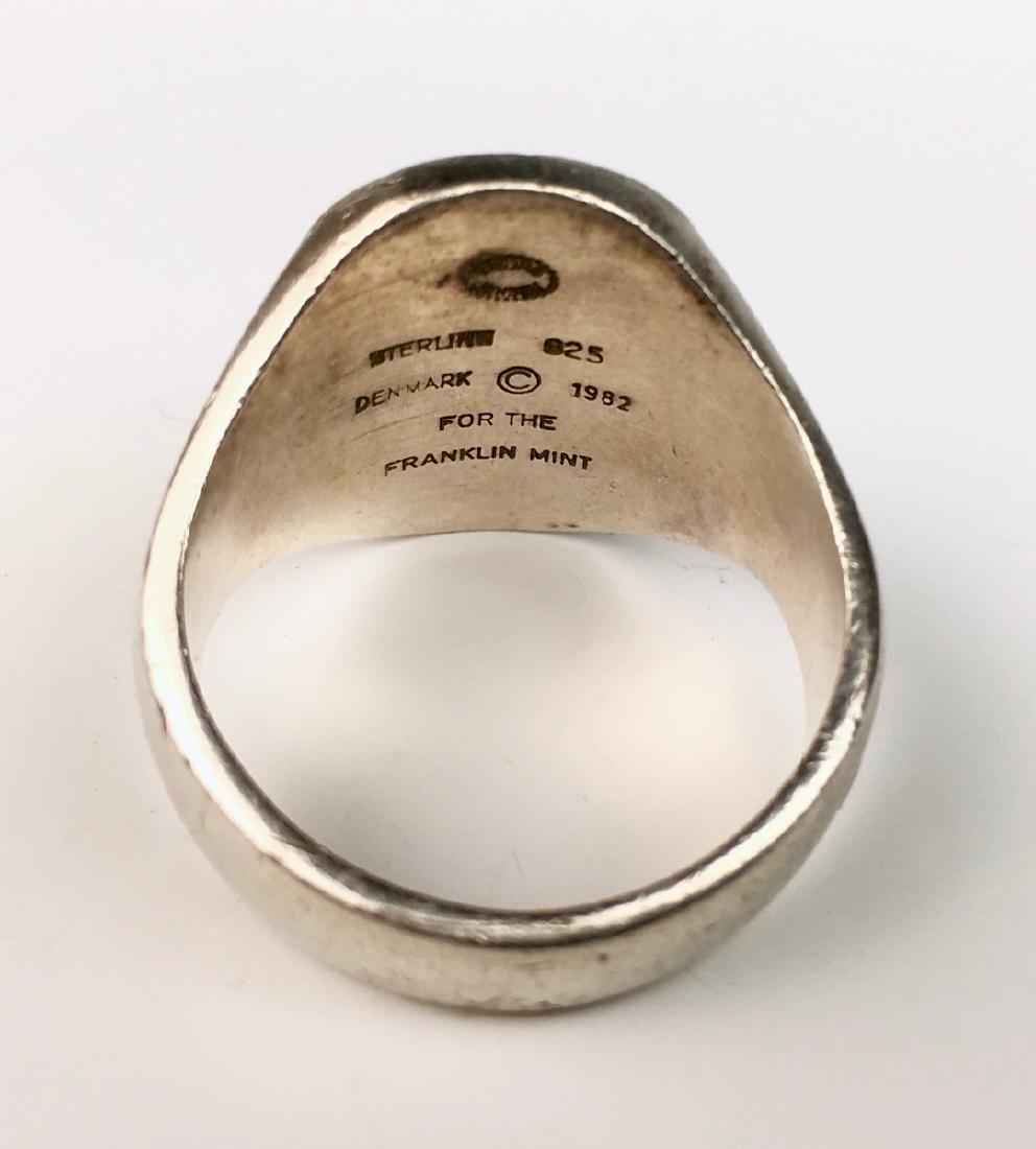 Georg Jensen Sterling Silver Eagle Signet Ring - 3